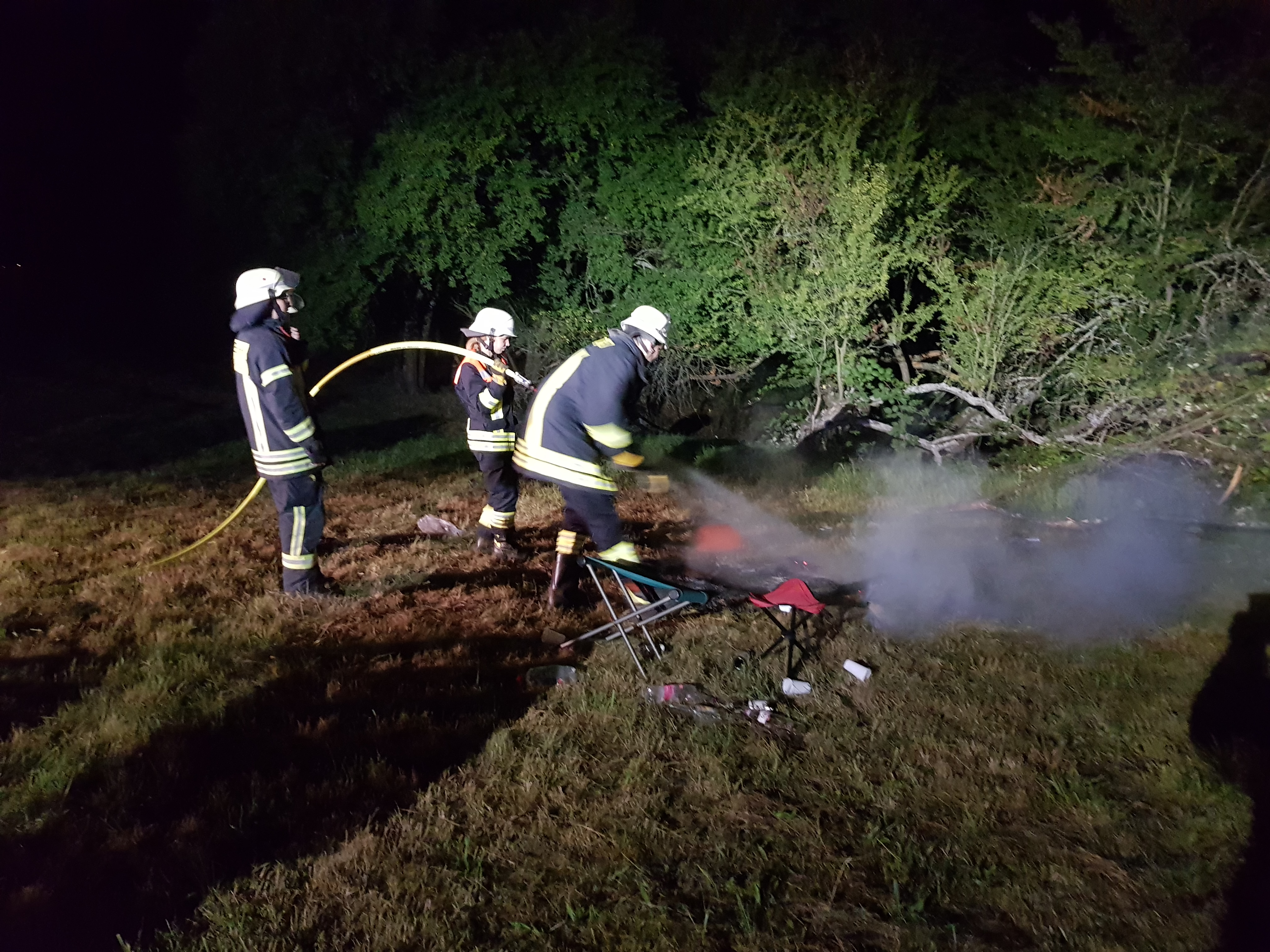 Gemeldeter Brand auf der Wiese am Waldrand am 06.09.2019
