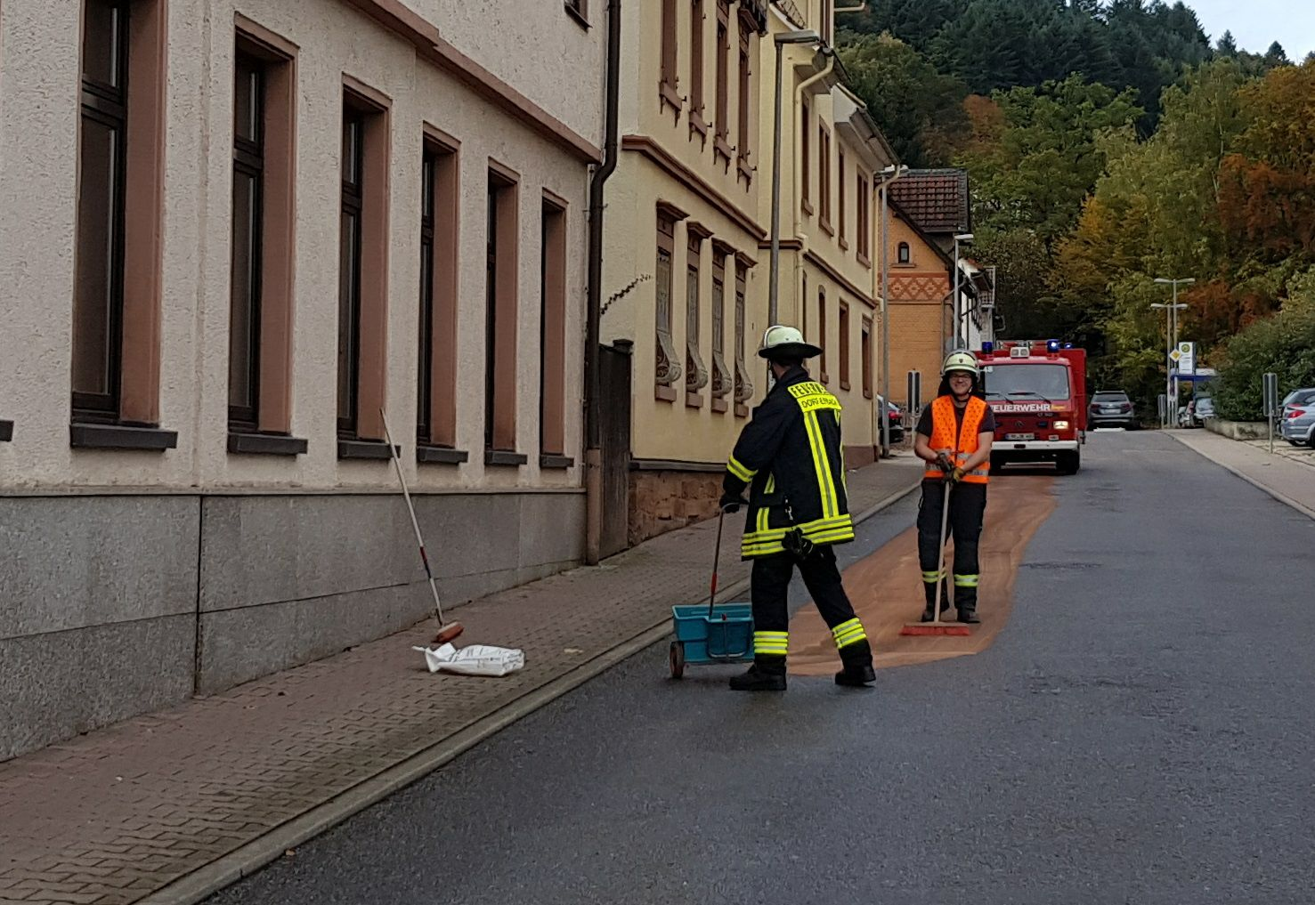18.10.2019, größere Ölspur in Erbach